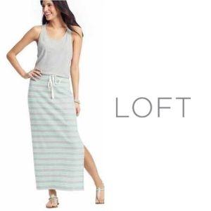 LOFT Dresses - ANN TAYLOR LOFT STRIPED RACERBACK LONG MAXI DRESS